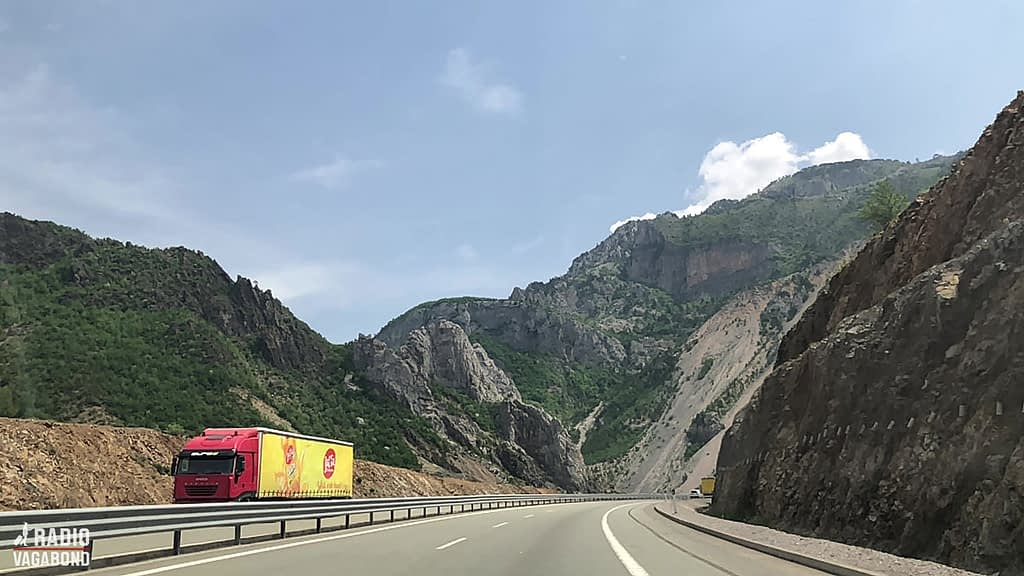 It's a 3-hour drive on a newly constructed highway from where I was in Tirana, Albania.