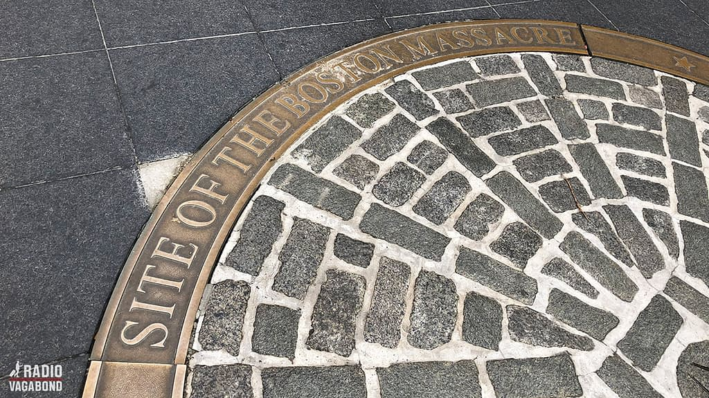 Old State House is at the place of the Boston Massacre