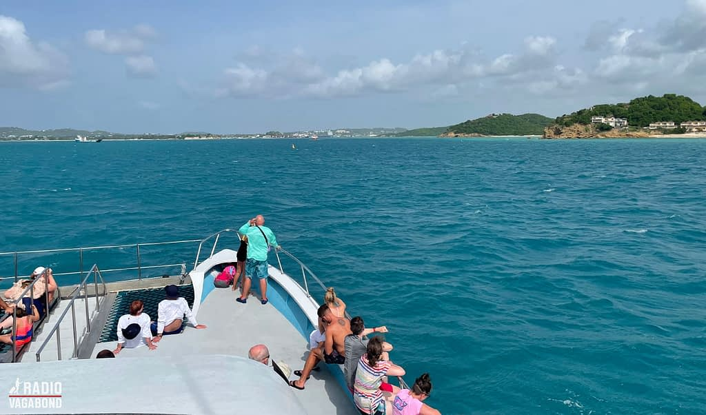 View of Antigua from a catamaran
