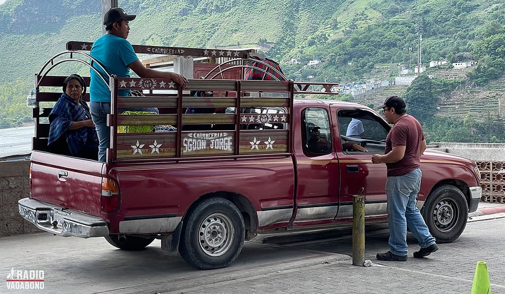 Pickup-truck-taxi is normal around here.