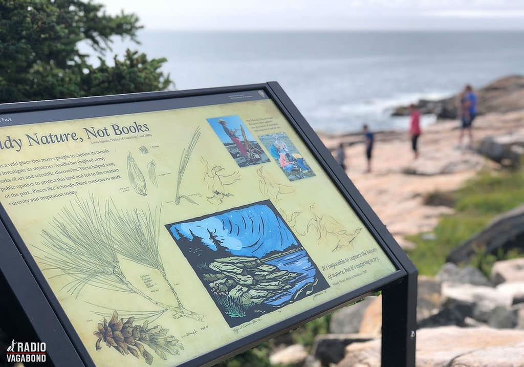 """Sign in Acadia National park: """"Study nature – not books"""""""