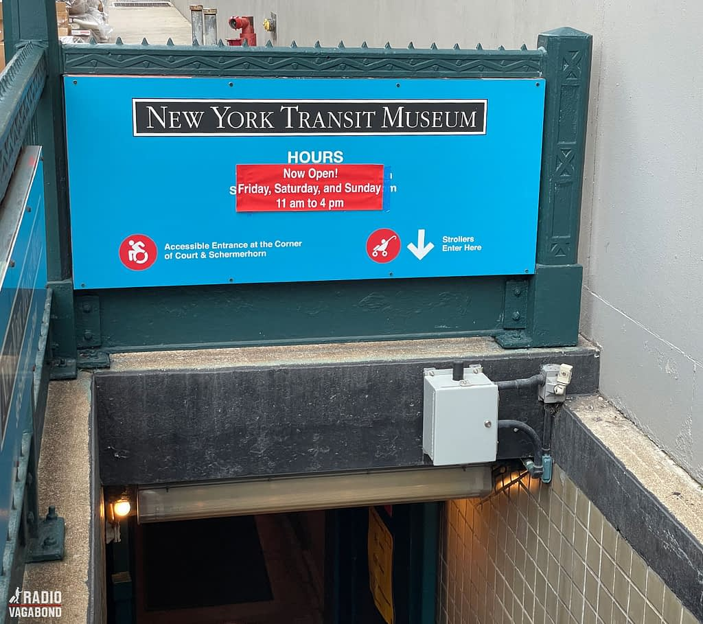 Entrance to The New York Transit Museum