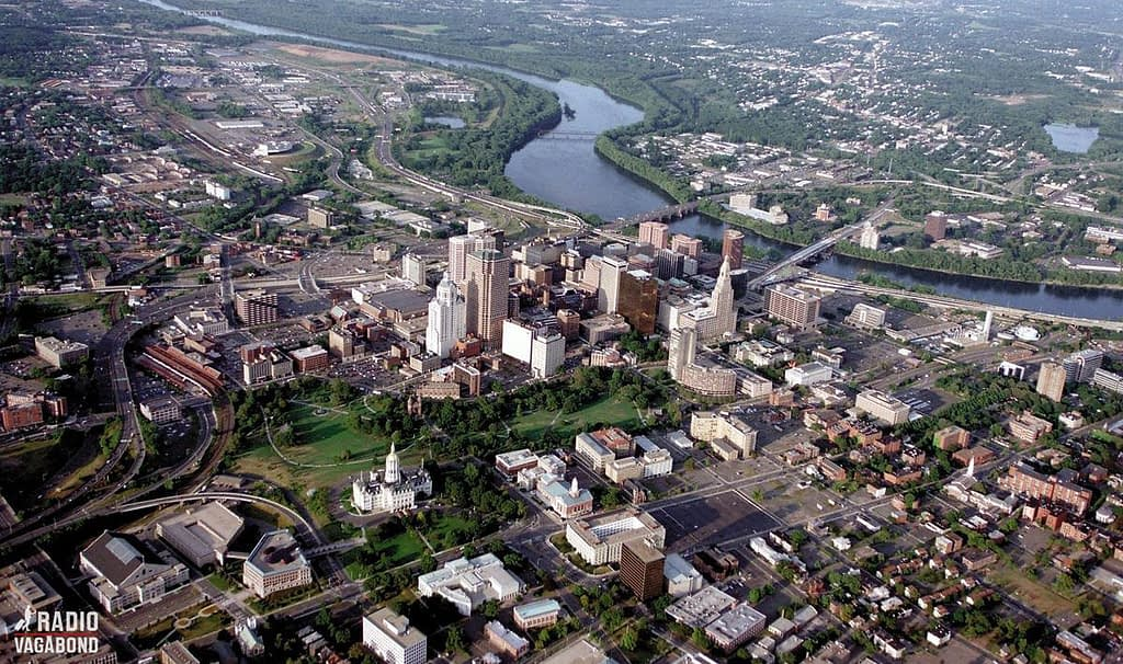 Hartford from above