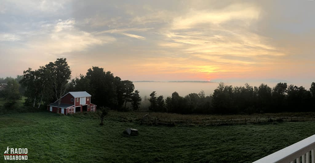 The view from my Airbnb was worth getting up early for.