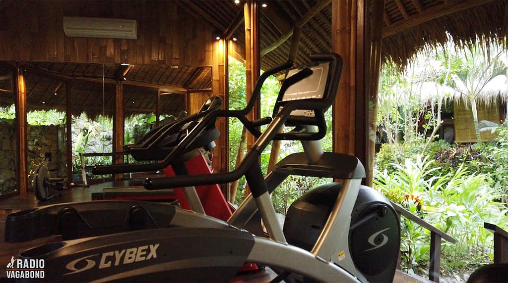 There's also a small gym with a view