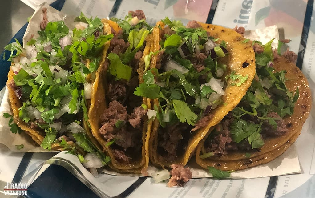 When you're in Mexico try some Mexican tacos – different and so much better that what we know as tacos.