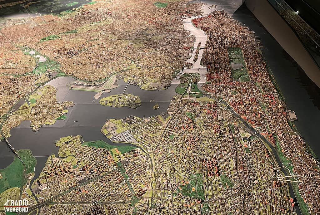 The Panorama is a scaled model of every borough in the greater New York area