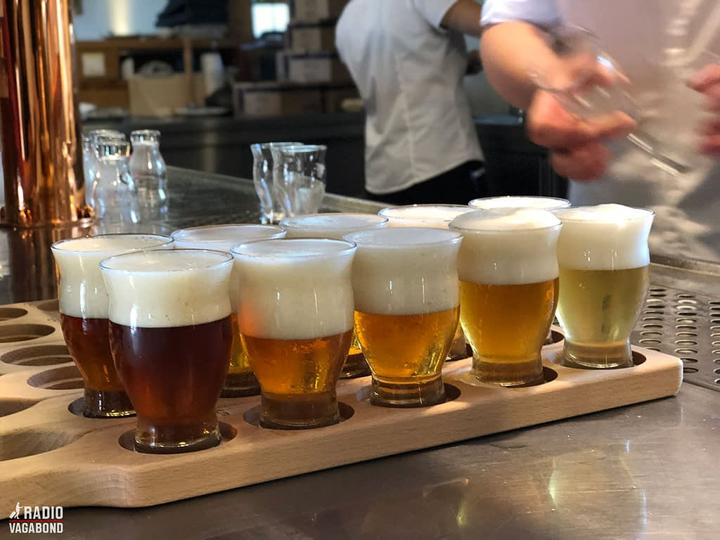 We got to taste five of their local craft beers.