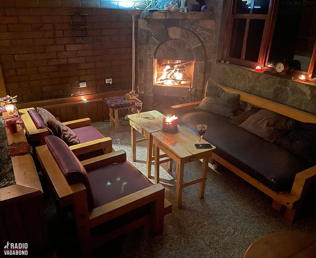 """Ready for """"hygge"""" in the sunken living room in Casa Catzij."""