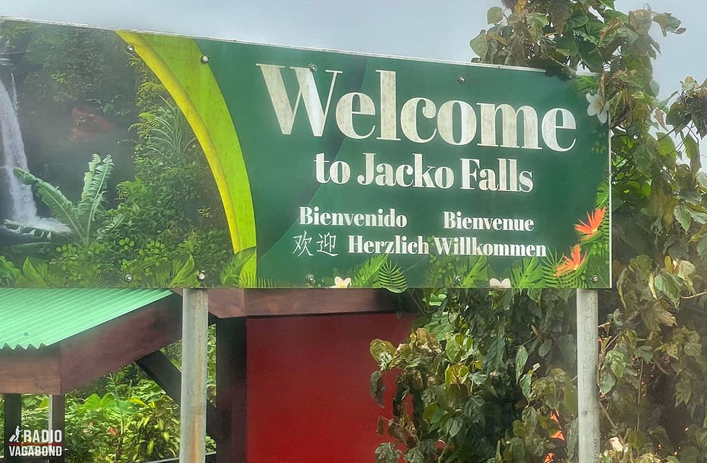 """Jaco Falls is in the middle of the island next to """"the roundabout"""""""
