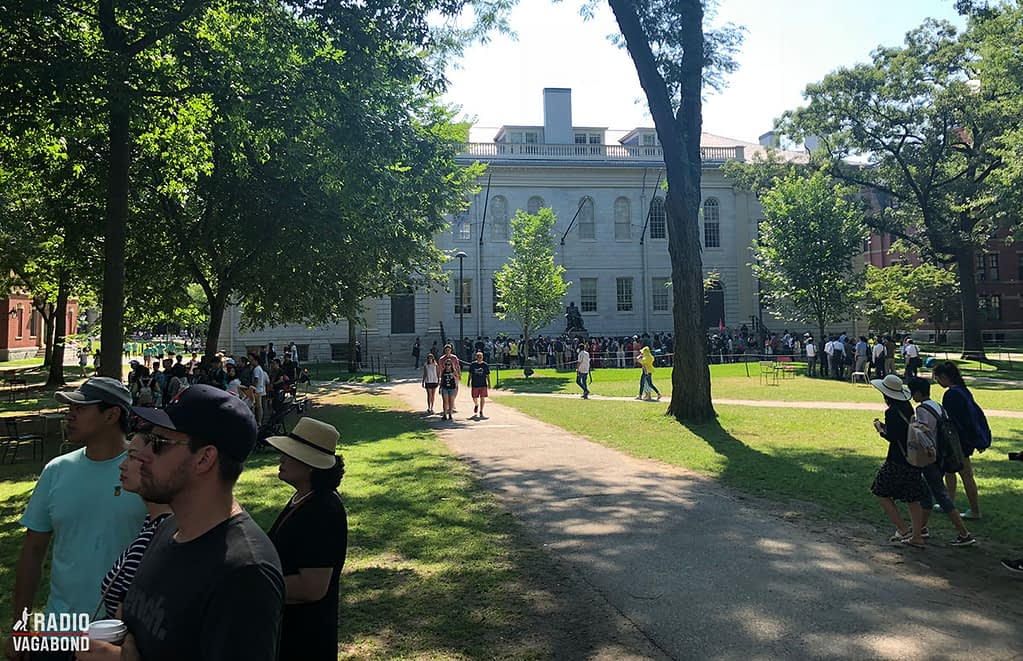 Harvard University is located in a wonderful green area