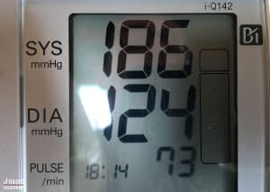 I went to a pharmacy to get my blood pressure tested and it was much higher than it should be.