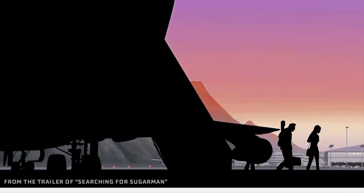 From a beautifully animated scene in the movie, Rodriguez arrives in Africa.