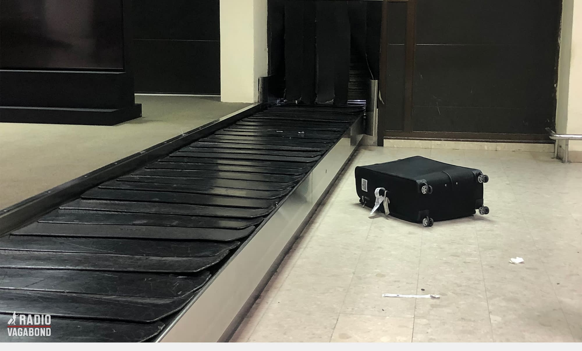 Suitcase was there