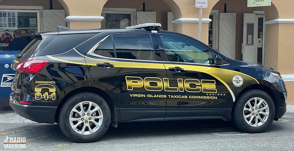 Does the text on the police car mean that they also do taxi driving?